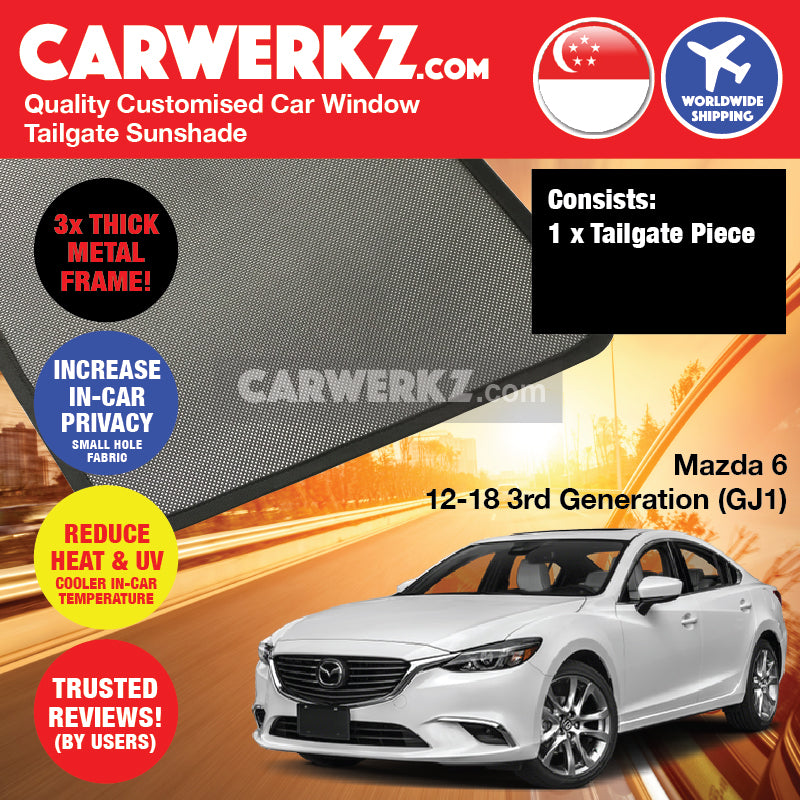 Mazda 6 2012-2018 3rd Generation (GJ1) Japan Sedan Customised Car Window Rear Tailgate Sunshade 1 Piece - CarWerkz