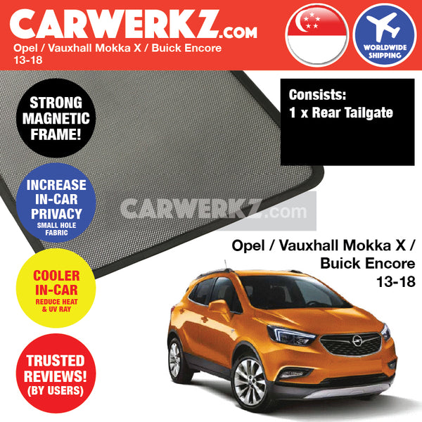 Opel Mokka X Diesel SUV SPort Utility Vehicles Car Accessories 2013 2014 2015 2016 2017 2018 Rear Tailgate Sunshade 1 Piece