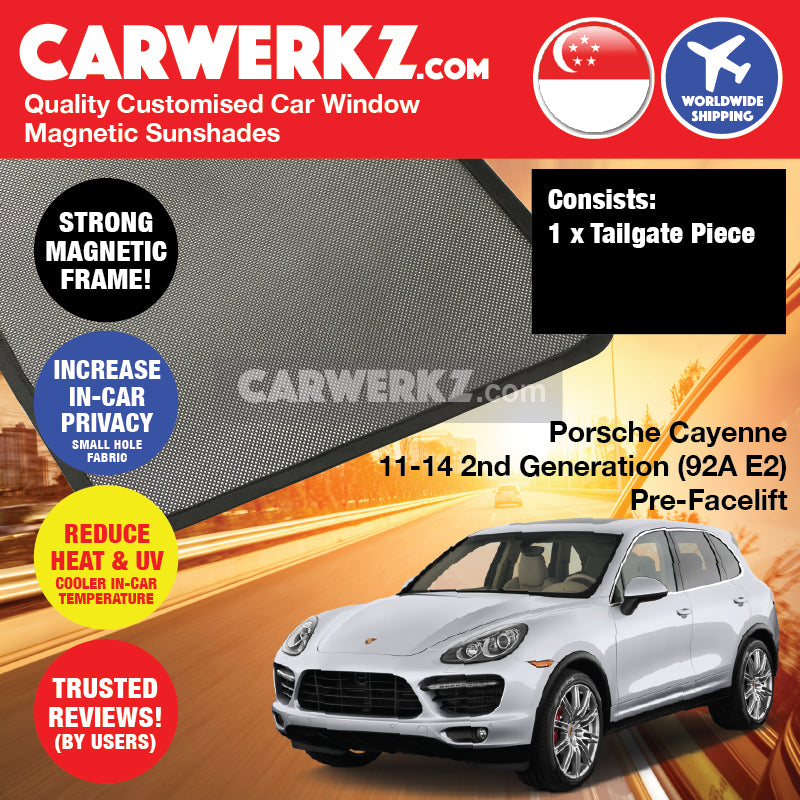 Porsche Cayenne 2011-2014 2nd Generation (92A E2) PRE-FACELIFT Germany Luxury Mid Size Compact Crossover Customised Car Window Magnetic Sunshades