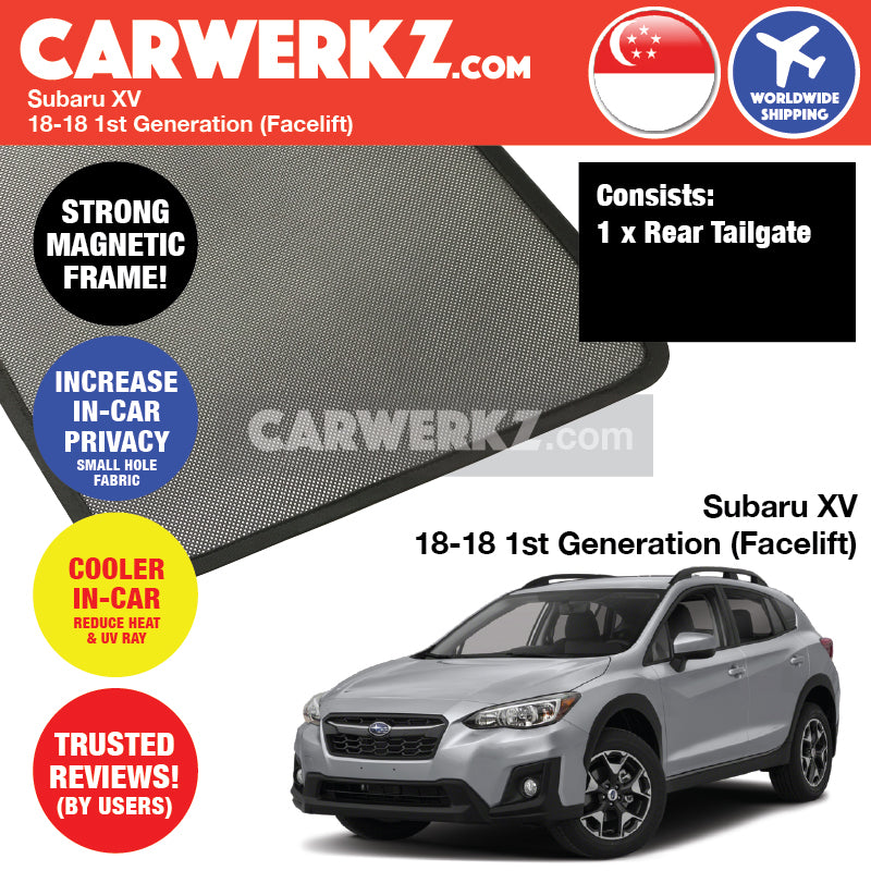 Subaru XV Crosstrek 2018-2018 (Facelifted) Customised Car Window Rear Tailgate Sunshade 1 Piece - CarWerkz