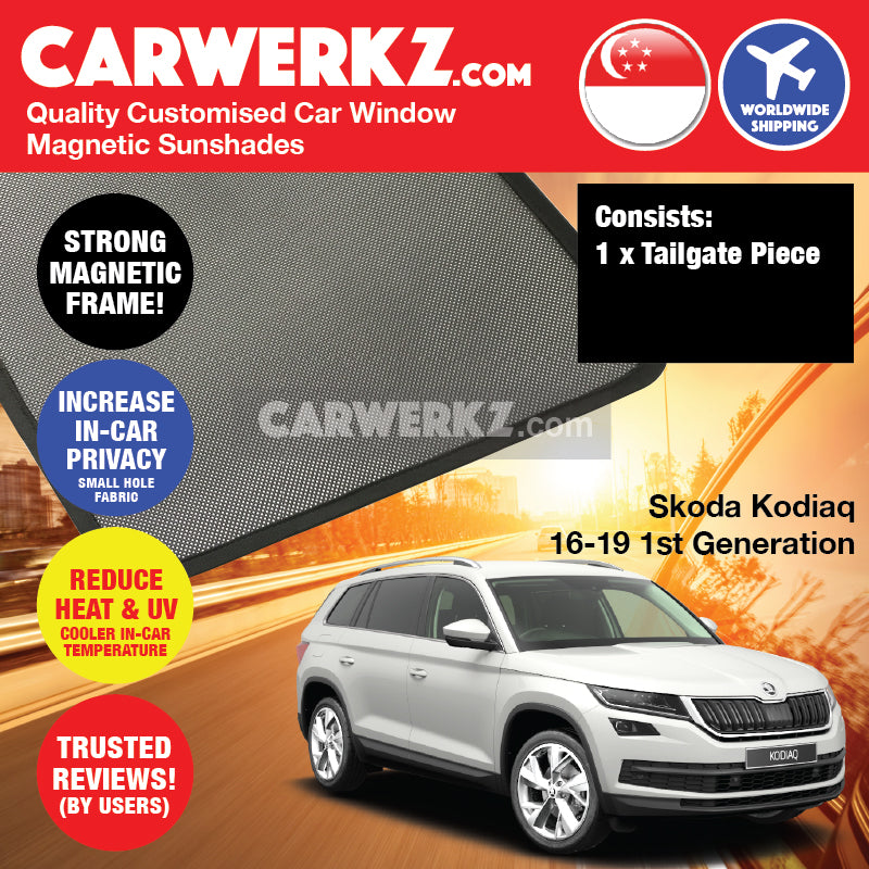 Skoda Kodiaq 2016-2020 1st Generation Czech Republic Mid Size Crossover Customised SUV Window Magnetic Sunshades - CarWerkz