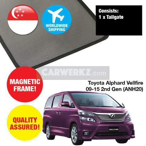 Toyota Alphard Vellfire 2009-2015 2nd Generation (ANH20) Rear Tailgate Sunshade 1 Piece