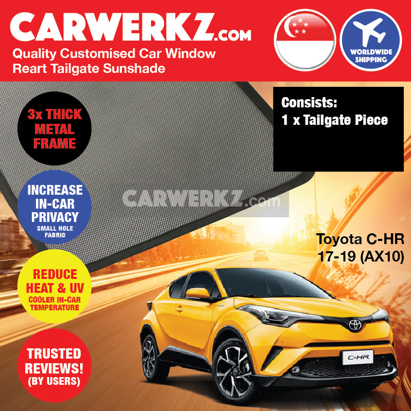 Toyota C-HR CHR 2017-2020 1st Generation (AX10) Japan Subcompact Crossover SUV Customised Car Window Magnetic Sunshades