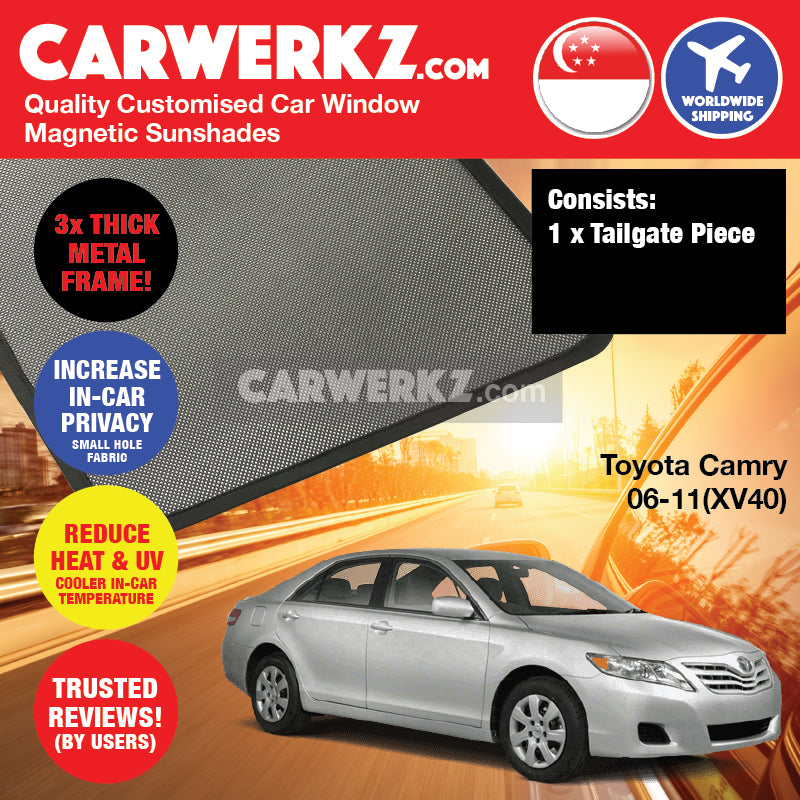 Toyota Camry 2006-2012 10th Generation (XV40) Japan Executive Sedan Customised Car Window Magnetic Sunshades - CarWerkz