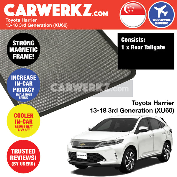 Toyota Harrier SUV Sport Utility Vehicles Car Accessories 2013 2014 2015 2016 2017 2018 3rd Generation (XU60) Customised Rear Tailgate Sunshade 1 Piece