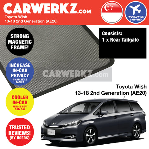 Toyota Wish MPV Multi Purpose Vehicles Car Accessories 2013 2014 2015 2016 2017 2018 2nd Generation (AE20) Customised Car Window Rear Boot Tailgate Sunshade 1 Piece