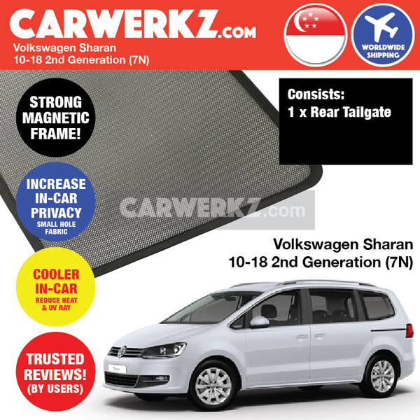 Volkswagen Sharan MPV Multi Purpose Vehicles 2010 2011 2012 2013 2014 2015 2016 2017 2018 2nd Generation (7N) Rear Tailgate Sunshade 1 Piece