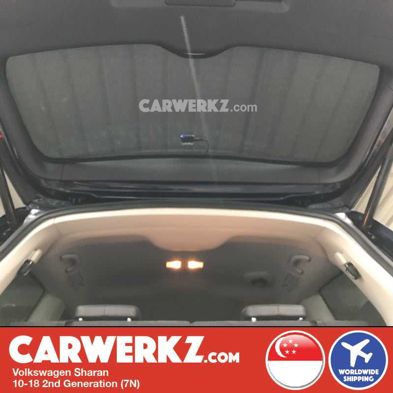 Volkswagen Sharan 2010-2018 2nd Generation (7N) Customised Car Window Rear Tailgate Sunshade 1 Piece - CarWerkz