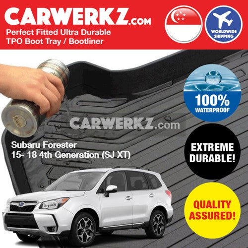 Subaru Forester 2012-2018 4th Generation (SJ) Japan Subcompact Crossover SUV Customised Trunk Perfect Moulded Ultra Durable TPO 3D Boot Tray - CarWerkz
