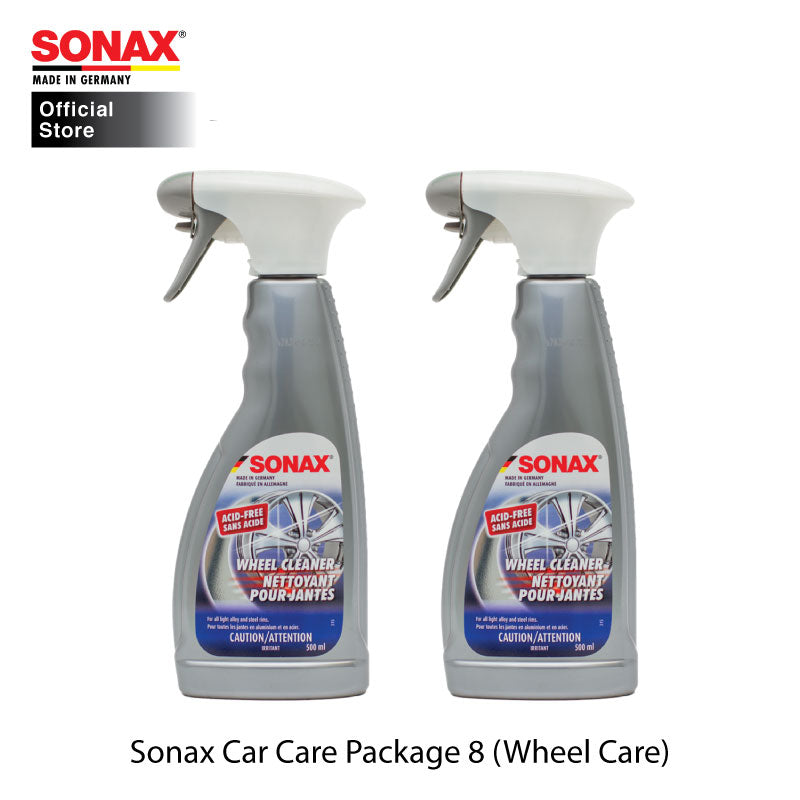 BUNDLE: SONAX Car Care Package 8 (Wheel Care) (Xtreme Wheel Rim Cleaner Acid Free 500ml (x2 bottles)) - CarWerkz