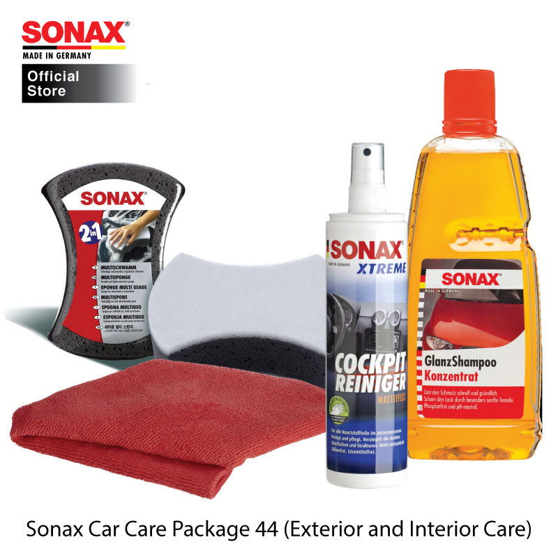BUNDLE: Sonax Car Care Package 44 (Exterior and Interior Care) - CarWerkz