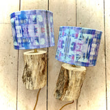 Lavender Fields Collection Table Lamp Pair Driftwood Bases
