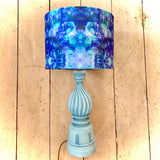 Statement Lamp Pair 'The Blue Inks' Collection Vintage Bases