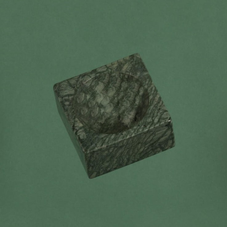STONED - Green Marble Block Bowl