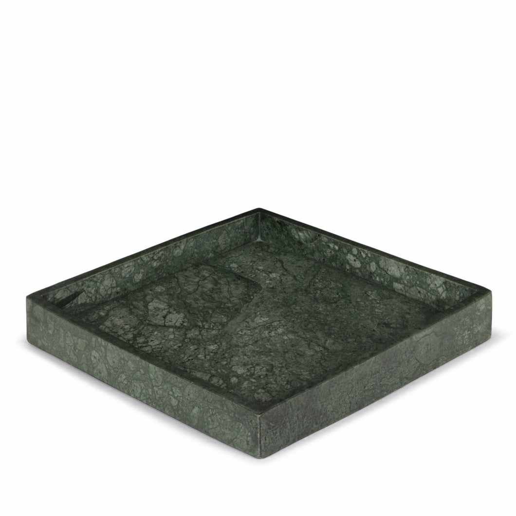 STONED - Green Marble Square Tray
