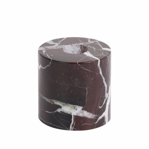 STONED - Burgundy Marble Reversible Candle Holder