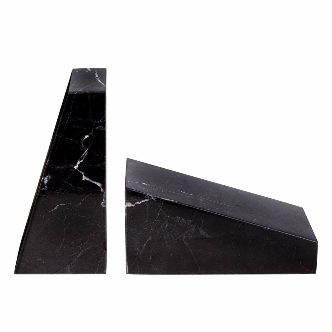 STONED - Black Marble Book End Set