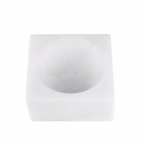 STONED - White Marble Block Bowl