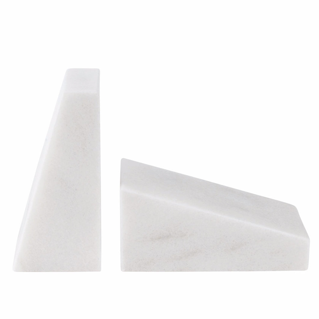 STONED - White Marble Book End Set