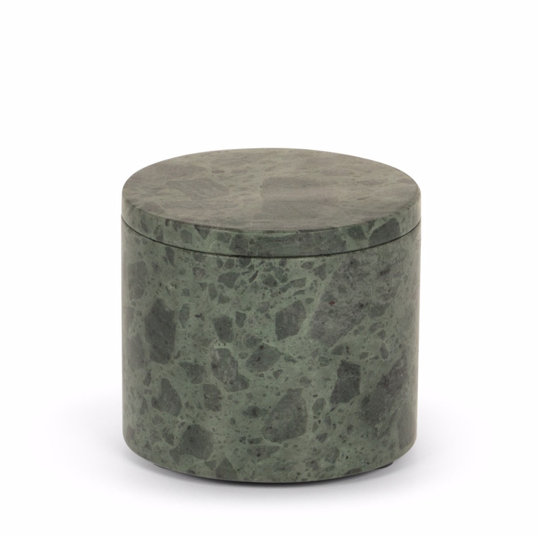STONED - Green Marble Round Box
