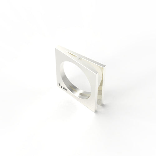 TYPE - Alphabet Ring / A