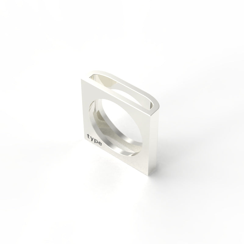 TYPE - Alphabet Ring / D