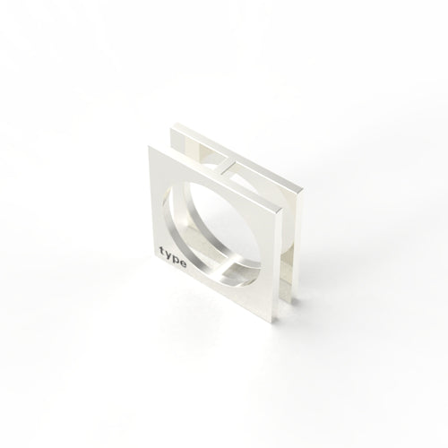 TYPE - Alphabet Ring / H