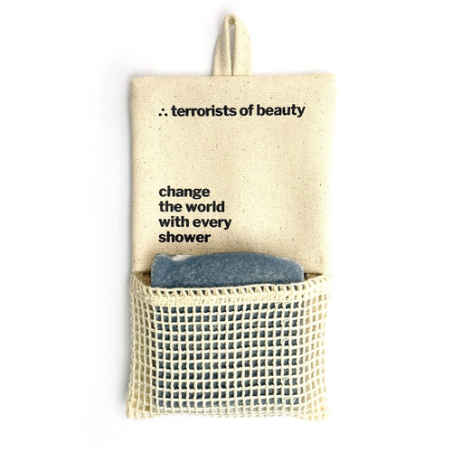 Terrorists of Beauty - Travel Bag 001: Soap Bag Cream White