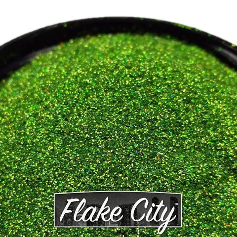 ".008"" APPLE GREEN HOLOGRAPHIC FLAKES"