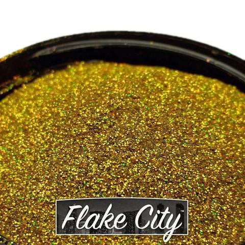 ".008"" GOLD HOLOGRAPHIC FLAKES"