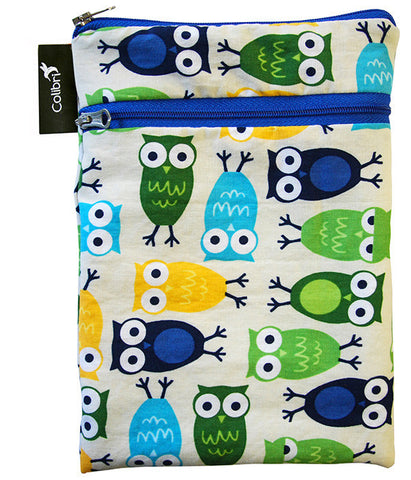 5008 - Owls Mini Double Duty Wet Bag