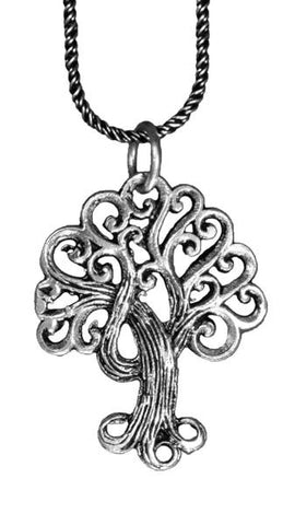 Sterling SIlver Spiral Tree of Life Pendant