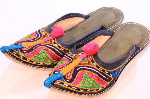 Hand Embroidered Indian Slip on Shoes