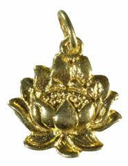 Gold Vermeil Lotus Flower Pendant