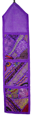 Rajasthani Patchwork Storage or Mail Organizer 4 Colors