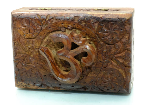 Wooden Secret Om Puzzle Box