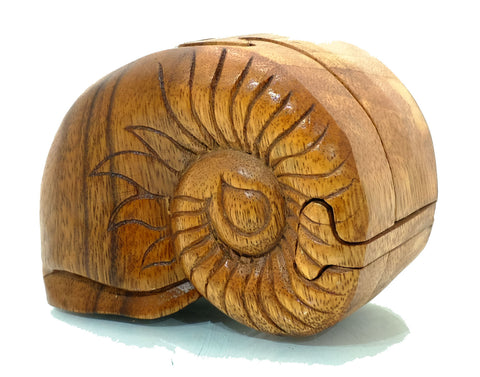 Natalis Shell Handcarved Wooden Puzzle Boxes