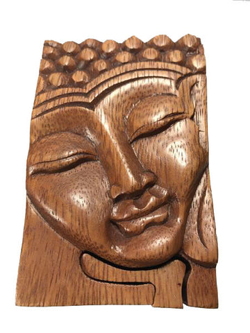 Handcarved Wooden Buddha  Puzzle Boxes
