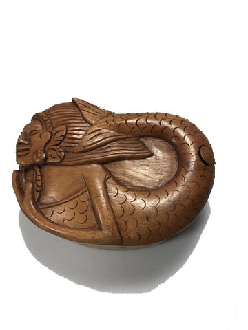 Handcarved Wooden Mermaid Puzzle Boxes