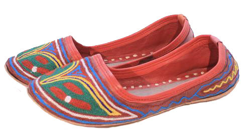 Soft Leather Hand Embriodered Indian Shoes