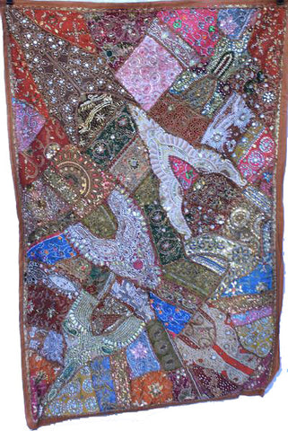 Rajathani Patchwork Wall Hangings Heavy Embrodery Large