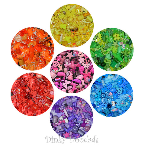 Color sorting trinkets (20 each-7 colors), I Spy, Sensory bin, Games