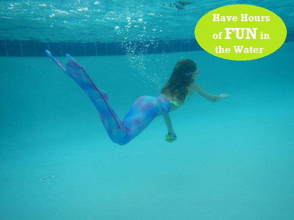 Junior/Teen Fantasy Fin Quality Swimmable Mermaid Tail (Monofin NOT Included) - Oceana Mermaid Scale