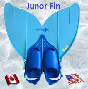 Junior/Teen Fantasy Fin Quality Swimmable Mermaid Tail with Monofin - Oceana Mermaid Scale