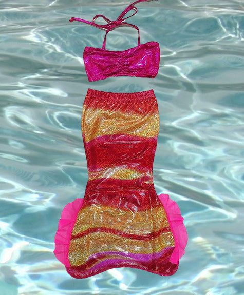 Toddler Tails for 3 - 5 years old - Open Bottom for early swimmers (NO FIN included)