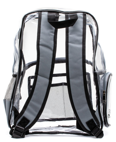 clear backpack black