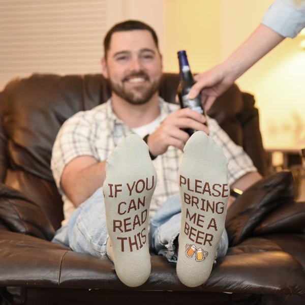 if you can read this please bring me beer socks
