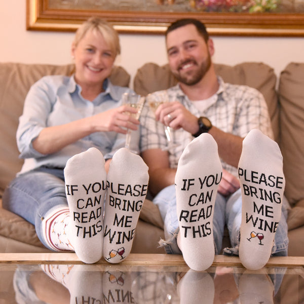 if you can read this please bring me wine socks