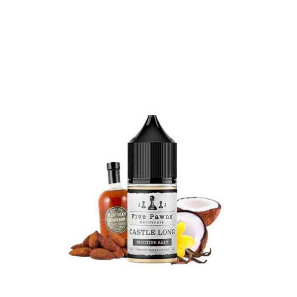 Castle Long Five Pawns Saltnic eJuice in UAE. Dubai, Abu Dhabi, Sharjah, Ajman - I Vape Dubai