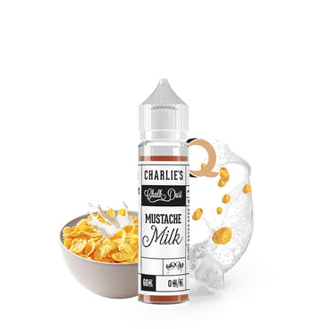 Charlie's Chalk Dust - Black & White Label - Vape eJuice - Mustache Milk  - 60ml - ESMA Approved
